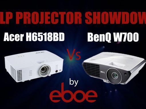 Acer H6518BD vs BenQ W700 DLP Projector Comparison